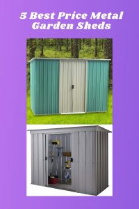 5 best price metal garden sheds
