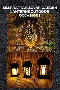 best rattan solar garden lanterns outdoor occasions